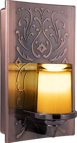 GE 11258 LED CandleLite Night Light, Plug-In, Light Sensing,
