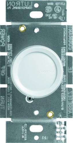 Lutron D-603P-WH Rotary 600-watt 3-Way Dimmer, White