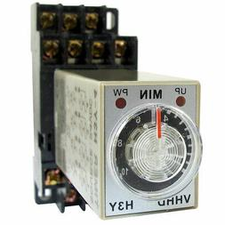 DC 24V 0-10 Minute 10m Timer Power On Delay Time Relay 14 Pi