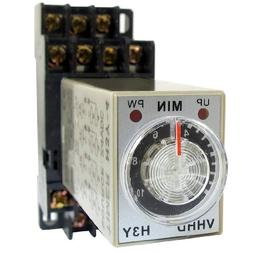 uxcell DC 24V 0-10 Minute 10m Timer Power On Delay Time Rela