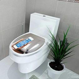 Toilet Seat Decal Vinyl Home Automation app on Phone h Femal