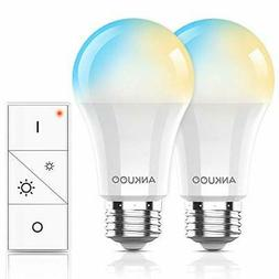 Dimmable Light Bulbs by Ankuoo,Remote Control E26 LED Bulb,W