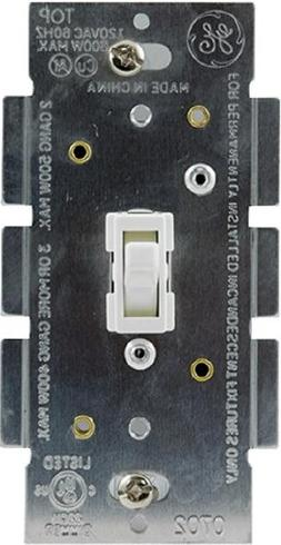 GE Light Switch Dimmer, Single Pole Toggle Dimmer, On/Off Di