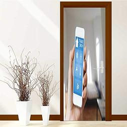 SCOCICI1588 Door Sticker smart home automation app on smartp