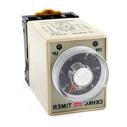 uxcell DPDT Knob Control 10Sec Power off Time Delay Relay Ti