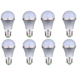 8-Pack E26/E27 5W LED Dusk to Dawn Sensor Light Bulbs  Built