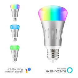 E27 Dimmable Wifi Smart Bulb RGB LED Light Bulbs For Amazon