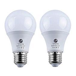 2-Pack E27 7-Watt 630Lumens LED Dusk-to-Dawn Sensor Light Bu