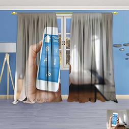 AmaPark 70% Blackout 2 Panels Curtains,home automation app o