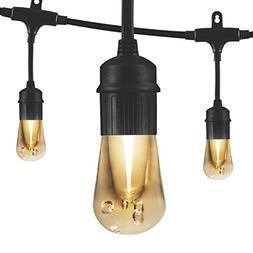 Enbrighten Vintage 24 ft. Integrated LED Cafe String Lights,