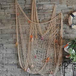 Fishing Net bar 3D wall decoration Nautical Home Decor for e