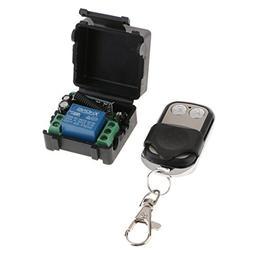 Homyl Garage Door Remote Control, 1CH Wireless RF Switch Tra
