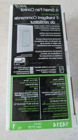 GE Jasco 14314 Z-Wave Plus In Wall Smart Fan Control ZW4002