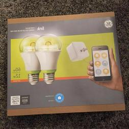 GE Link Starter Kit, 1 Hub and 2 A19 Light Bulbs, Soft White