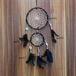 LtrottedJ Handmade Lace Dream Catcher, Feather Bead Hangin