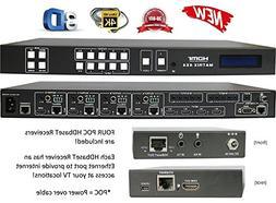 4x8 4x4 HDbaseT 4K HDMI MATRIX SWITCHER w/FOUR ETHERNET PoC