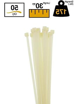"BuyCableTies 30"" Heavy Duty Indoor Cable Ties - 175 lb Rated"