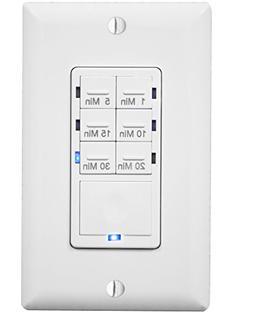 Enerlites HET06A-White 1-5-10-15-20-30 Minutes Preset In-Wal