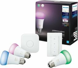 Philips - Hue Color 3pk Starter Kit with Lightswitch - Multi