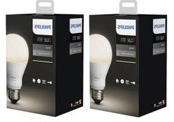 Philips Hue White A19 4-Pack 60W Equivalent Dimmable LED Sma