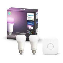 Philips Hue 2-Pack Premium Smart Light Starter Kit, 16 milli