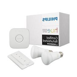 Philips Hue White Ambiance Smart Light Bulb Starter Kit
