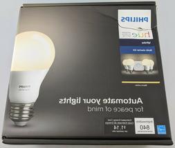 Philips Hue A19 Kit 4 Smart Bulbs and Bridge Alexa Compatibl