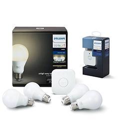Philips Hue White LED Smart Bulb Starter Kit with Motion Sen
