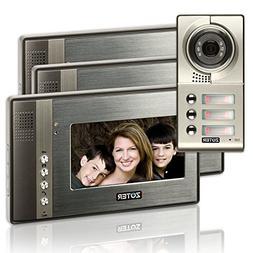 """ZOTER 7"""" inch Color LCD Video Door Phone Doorbell Home Entry"""