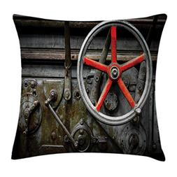 Lunarable Industrial Throw Pillow Cushion Cover, Past Outdat