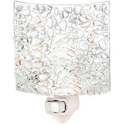 J Devlin NTL 155 Fused Clear Chips Glass Night Light Decorat