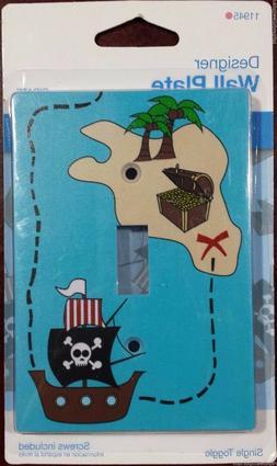 Jasco Designer Pirate Themed Wall Plate Single Light Switch