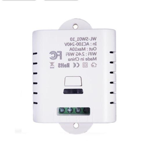 10A Wifi Switch App Remote Control Electrical for Home Appli