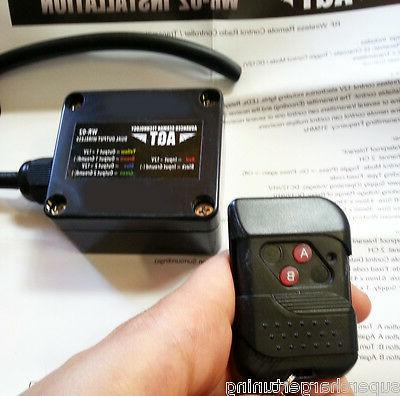 12V DC RF Wireless Remote Control & 2 Channel Toggle Switch