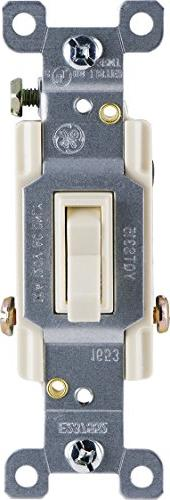 GE Grounding Toggle Switch, 3-Way, In Wall On/Off Fan & Ligh