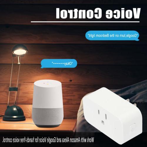 2 Smart Plug Power Outlet Control Alexa Wireless Socket