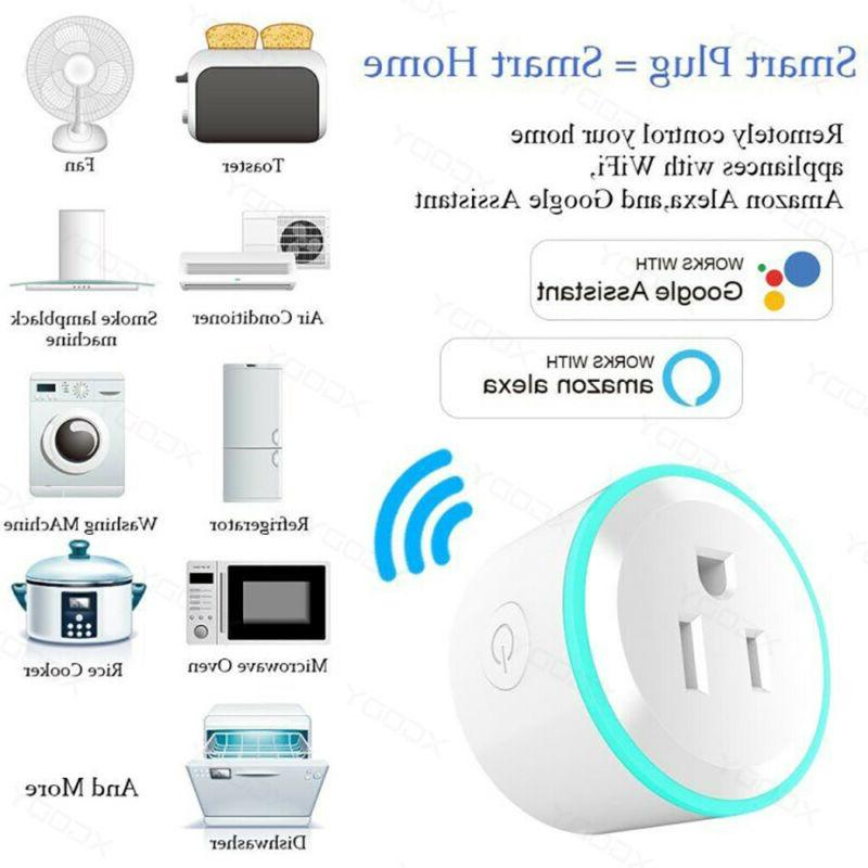 2X WiFi Outlet Remote Timer Switch Alexa Home Plug