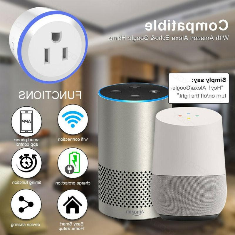 2X Outlet Control Switch Alexa Google Home Plug