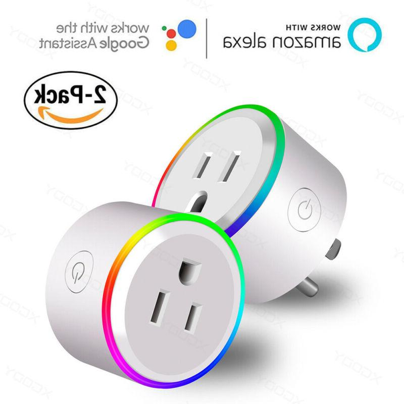 2x smart wifi socket outlet remote control