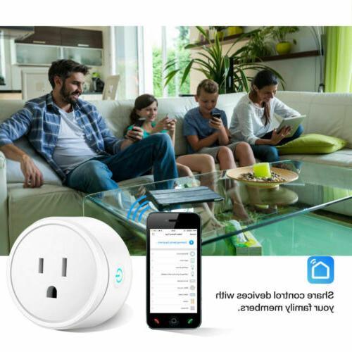 2x Smart Plug Outlet Control US Socket Work & Google Home