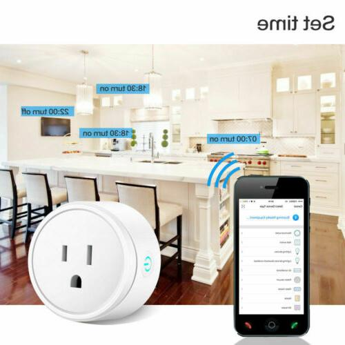2x Wifi Smart Outlet Control US Socket with Alexa &