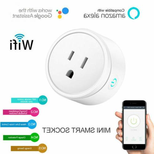 2x Wifi Outlet Control Socket Work with &