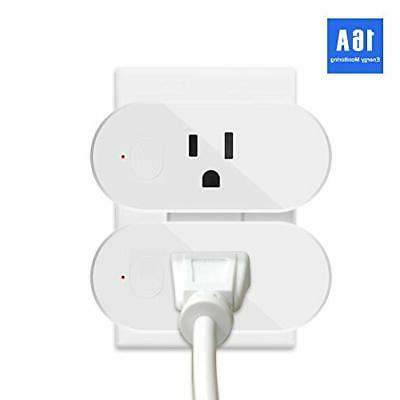 2x wifi smart plug remote control outlet