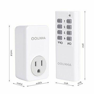 Ankuoo 3 Wireless Light Plug with Remote Control