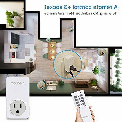 Ankuoo Outlet Wireless Switch Plug White