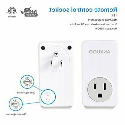 Ankuoo 3 Wireless Light Power Plug White with Remote Control
