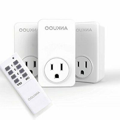 3 pack outlet wireless light switch power