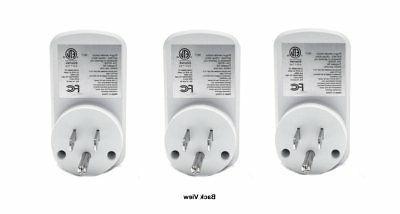 3 Wireless Control AC Power Plug Light Switch