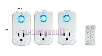 3 pack wireless remote control ac power