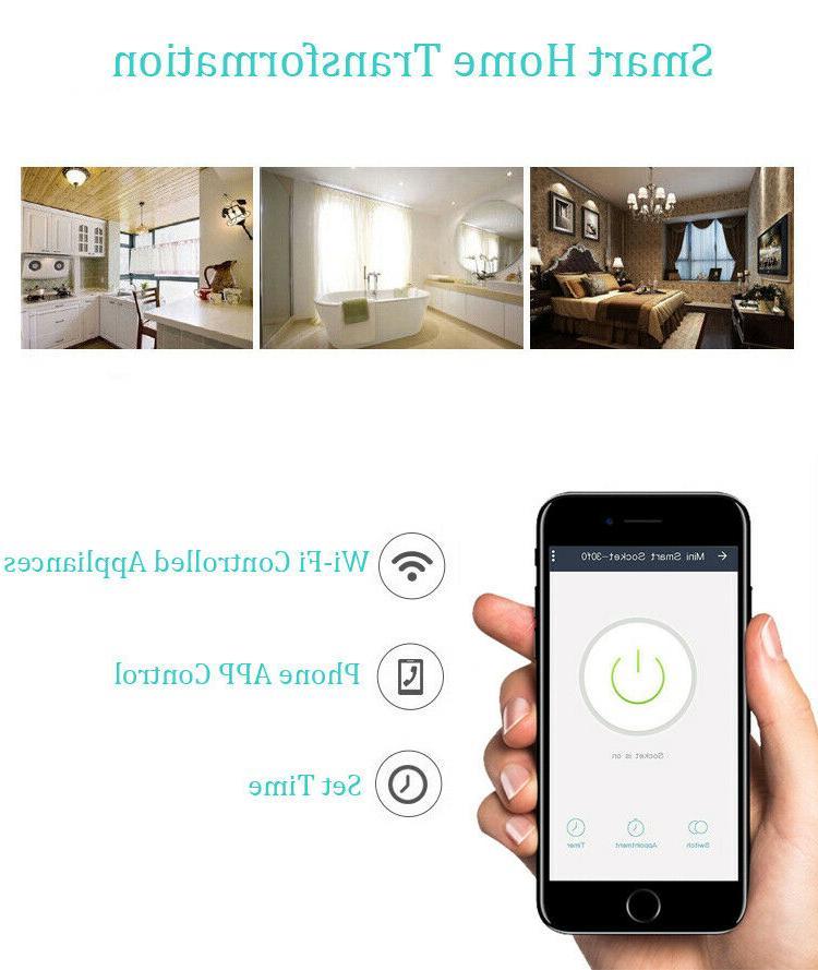 4 Wifi Plug Outlet Switch Alexa Echo Google Home